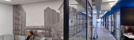 办公室装修中单层玻璃隔断的设计