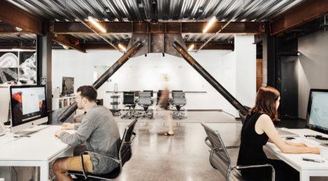 300平的工业感办公室设计:是工作和娱乐的结合