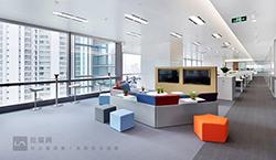 大面积办公室装修配图